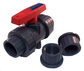 Plastic True Union Sch80 Ball Valves