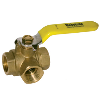 Brass Three Way Ball Valves